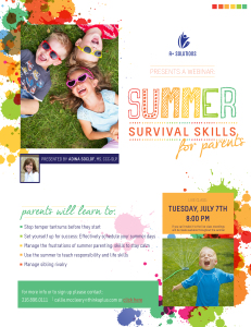 Free Recording: Summer Survival Skills For Parents